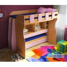 Детская кровать с выдвижн кроватью и 2-мя столами Фанки Кидз 19