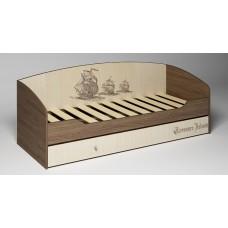 Детская игровая модульная комната Пират Кровать с выдвижным ящиком
