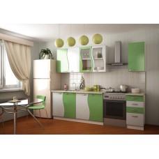 Кухня Волна зелёный